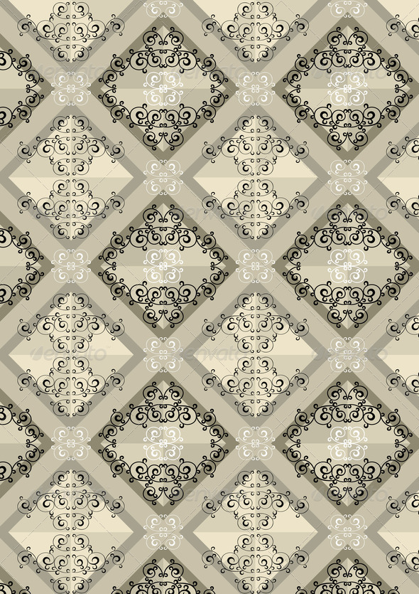 Delicate Checkered Seamless Background with Beige Shades - Stock Photo - Images