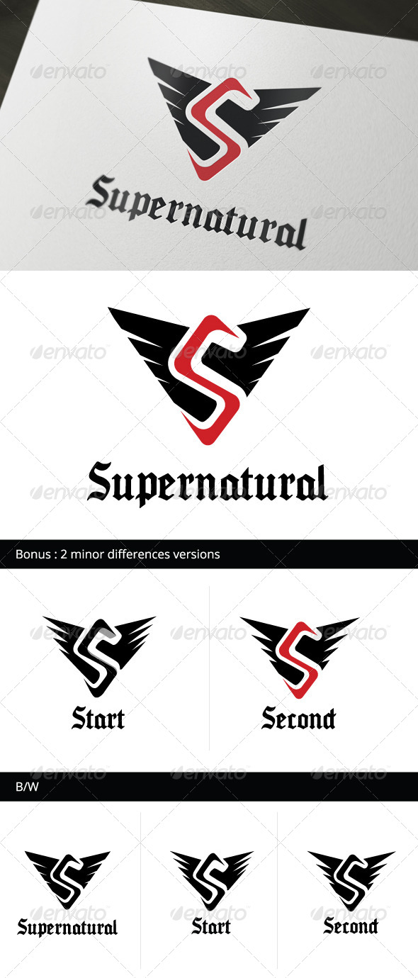 GraphicRiver Supernatural Logo Template 4801642
