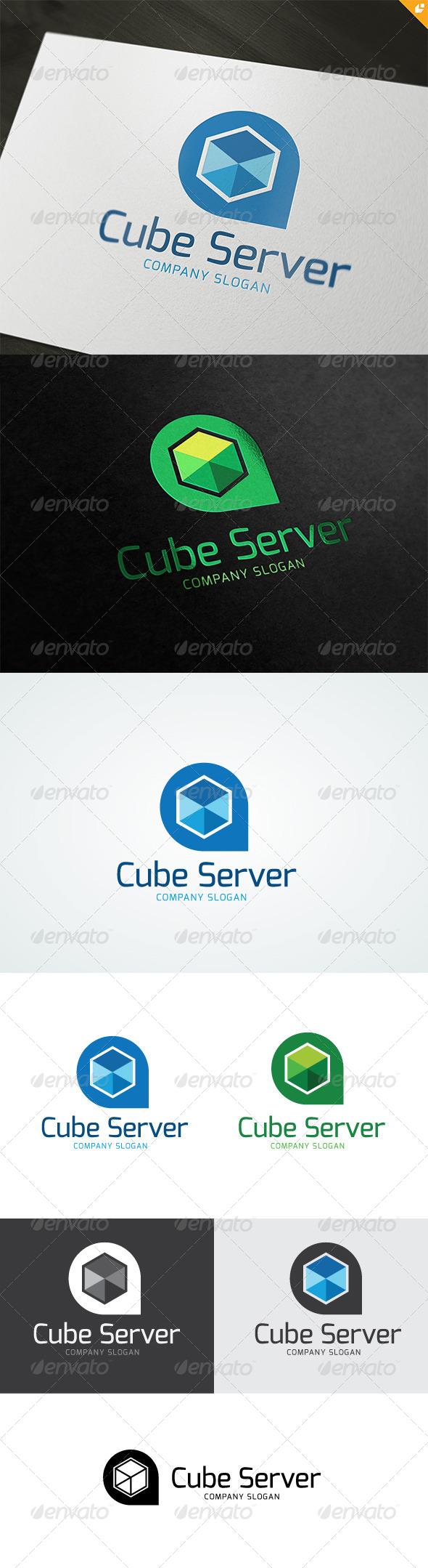 GraphicRiver Cube Server Logo 4801645