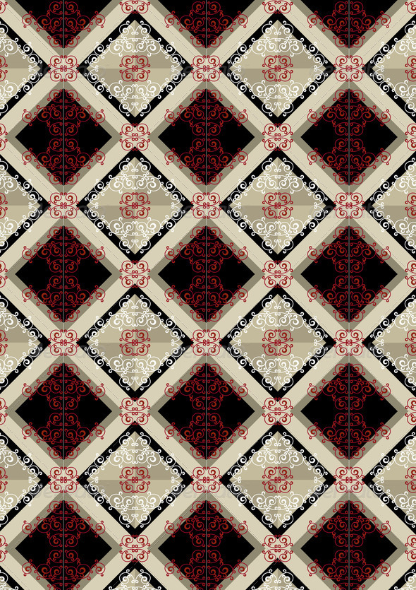 Delicate Checkered seamless Background with Red Pattern - Stock Photo - Images