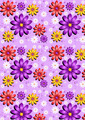 Gentle Purple Seamless Background with Flowers - PhotoDune Item for Sale