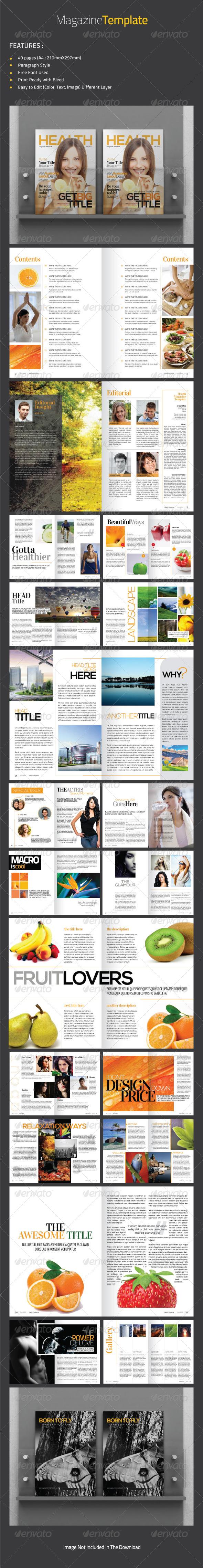 GraphicRiver Health Magazine Template 4801831