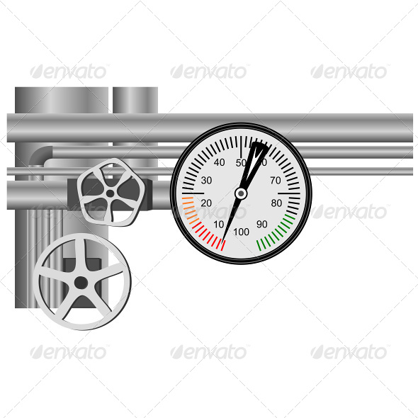 GraphicRiver Gas Pipe Valve and Pressure Meter 4801896