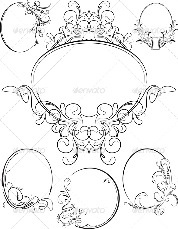 GraphicRiver Set of Six Oval Frames 4802174