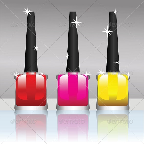 GraphicRiver nail polish bottle 4590279