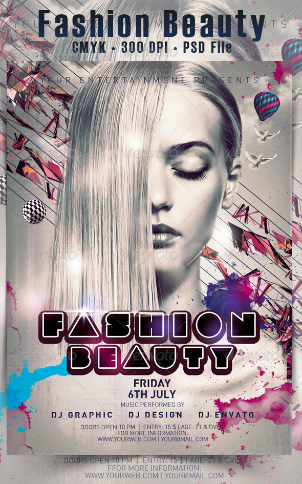 GraphicRiver Fashion Beauty Flyer 4802613
