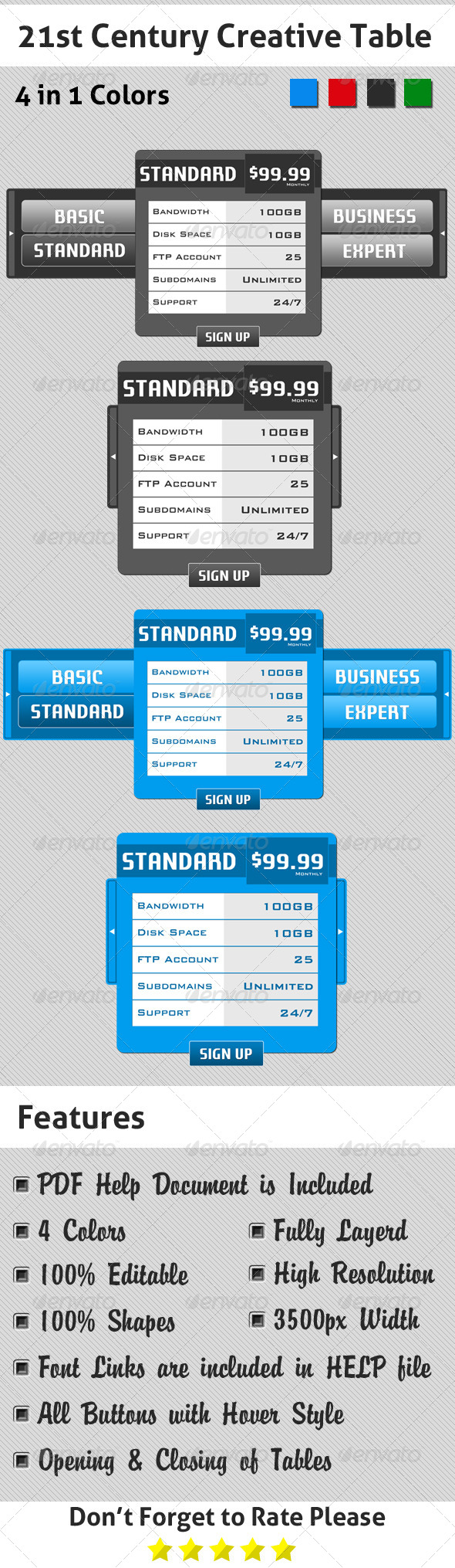 GraphicRiver 21st Century Creative Table 4133738