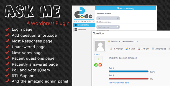 CodeCanyon Ask me questions or poll 4802797