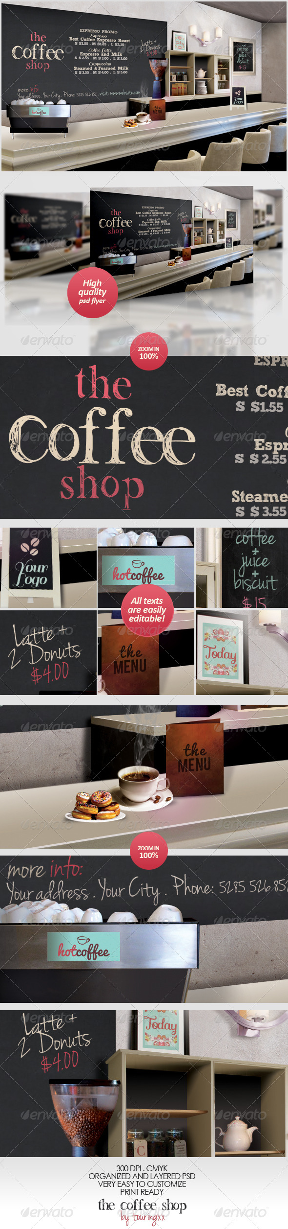 GraphicRiver The Coffee Shop Flyer Template 4802911