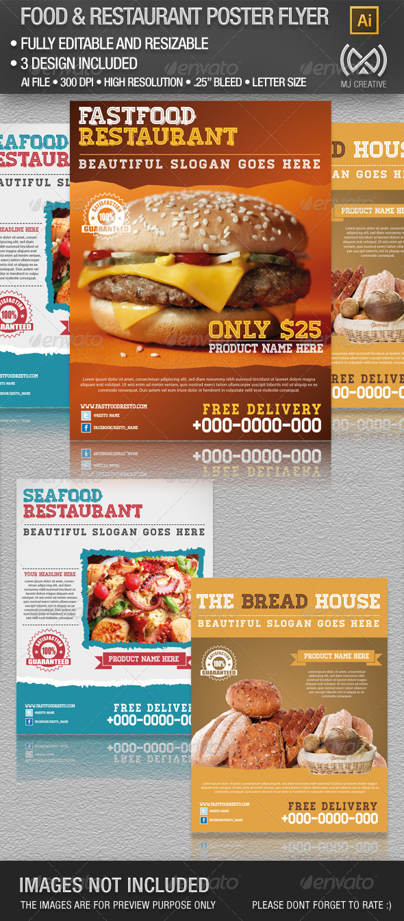 GraphicRiver Food and Restaurant Flyer Poster 4802924