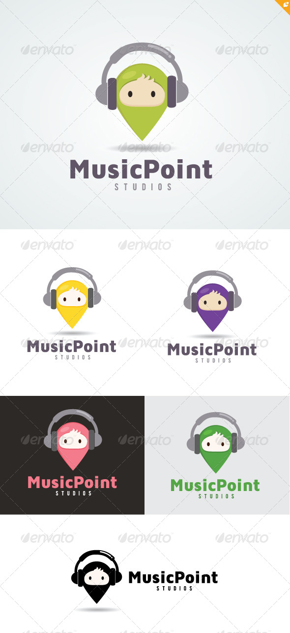 GraphicRiver Music Point Logo 4802990