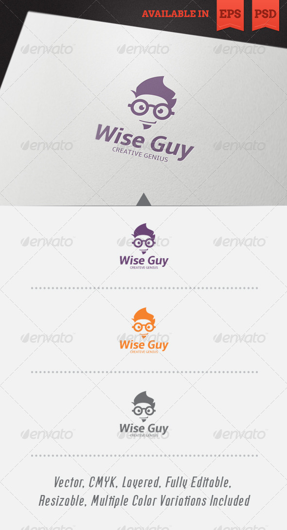 GraphicRiver Wise Guy Logo Template V1 4803007