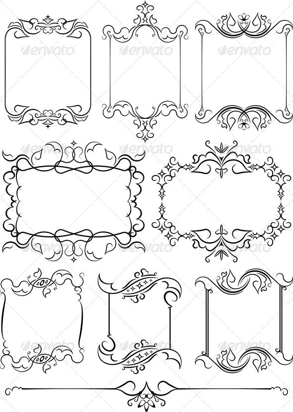 GraphicRiver Set Of 8 Frames 4803063