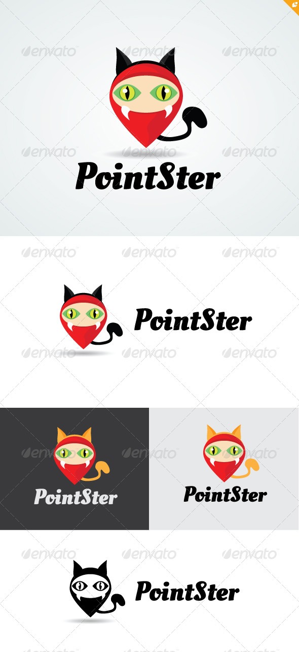GraphicRiver Point Monster Logo 4803106