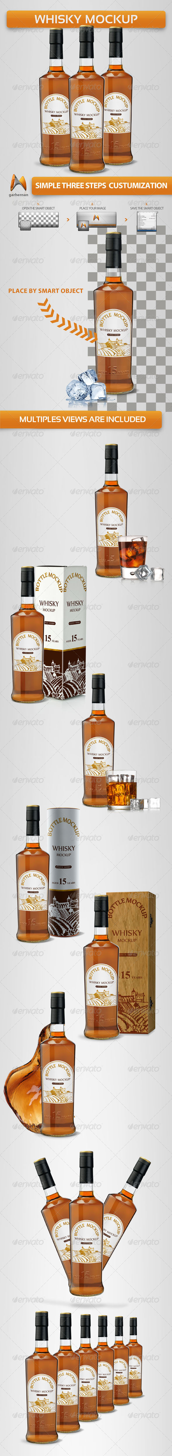 GraphicRiver Whisky Mock-Ups 4803185