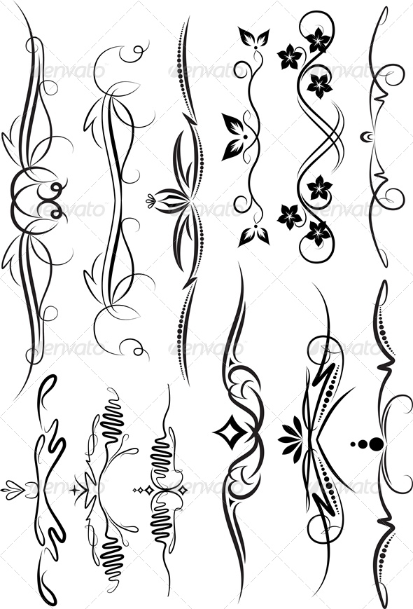 GraphicRiver Set of Decorative Elements 4803187