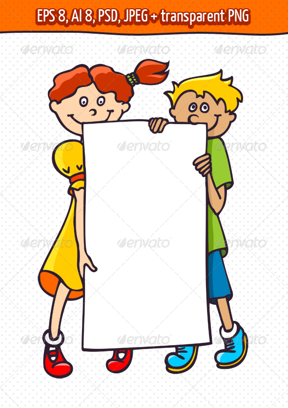 GraphicRiver Kids with a Banner 4803298