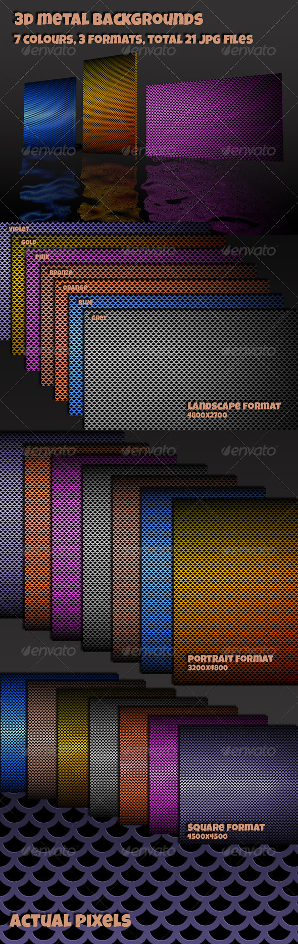 GraphicRiver Metal Techno Backgrounds 4803310