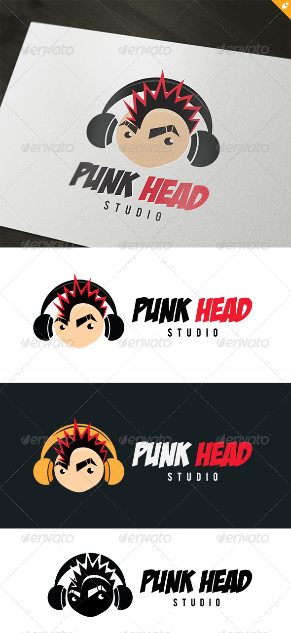 GraphicRiver Punk Head Logo 4803322