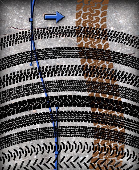 GraphicRiver 10 Tire Tracks Brush Set 4803392