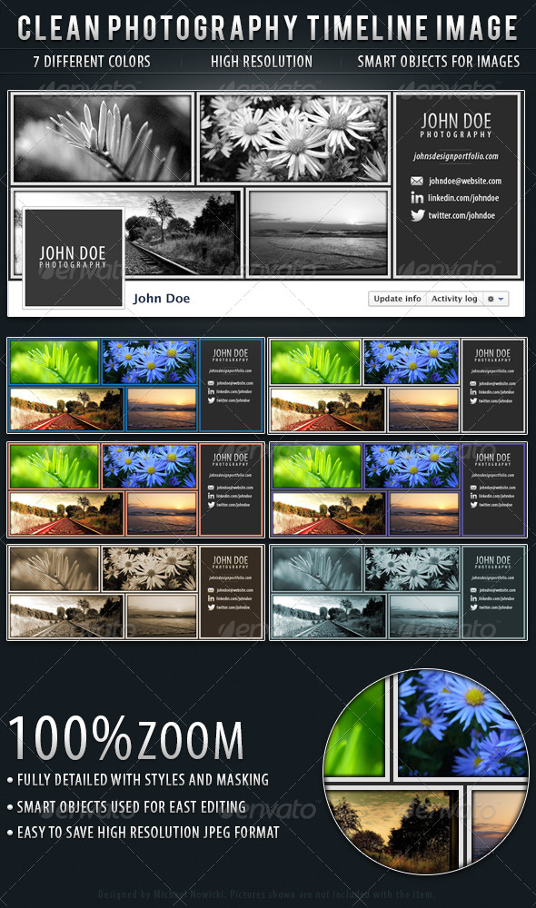 GraphicRiver Clean Photography Facebook Timeline Cover 4803393