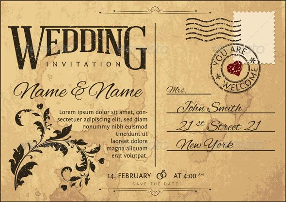 GraphicRiver Wedding Invitation 4803674