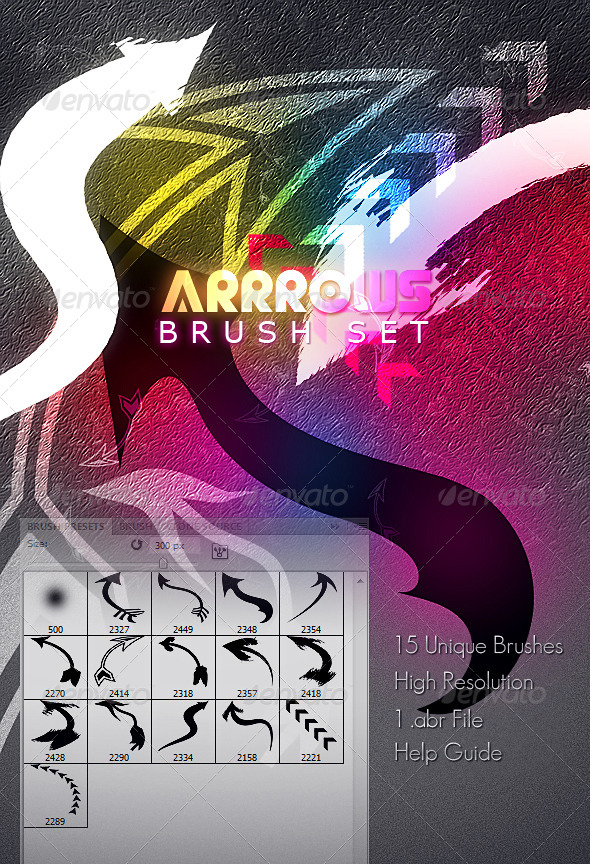 GraphicRiver Arrrows Brush Set 4803738