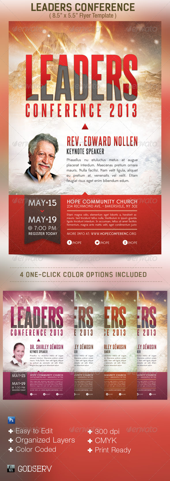 GraphicRiver Leadership Conference Church Flyer Template 4803790