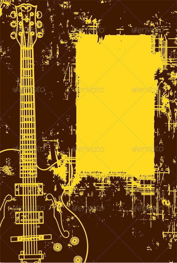 GraphicRiver Guitar Background In Grunge Style 4803791