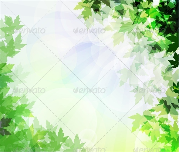 GraphicRiver Leafs Background Unfocused 4803797