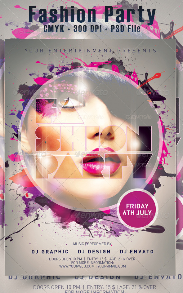 Fashion Party Flyer - Events Flyers