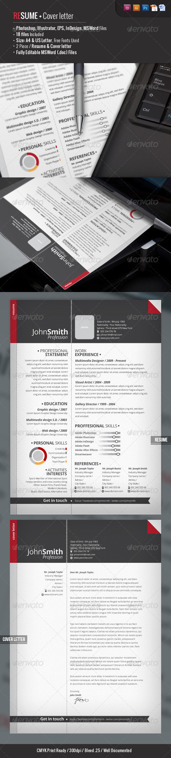 2-Piece Pro Resume + Cover Letter - Resumes Stationery