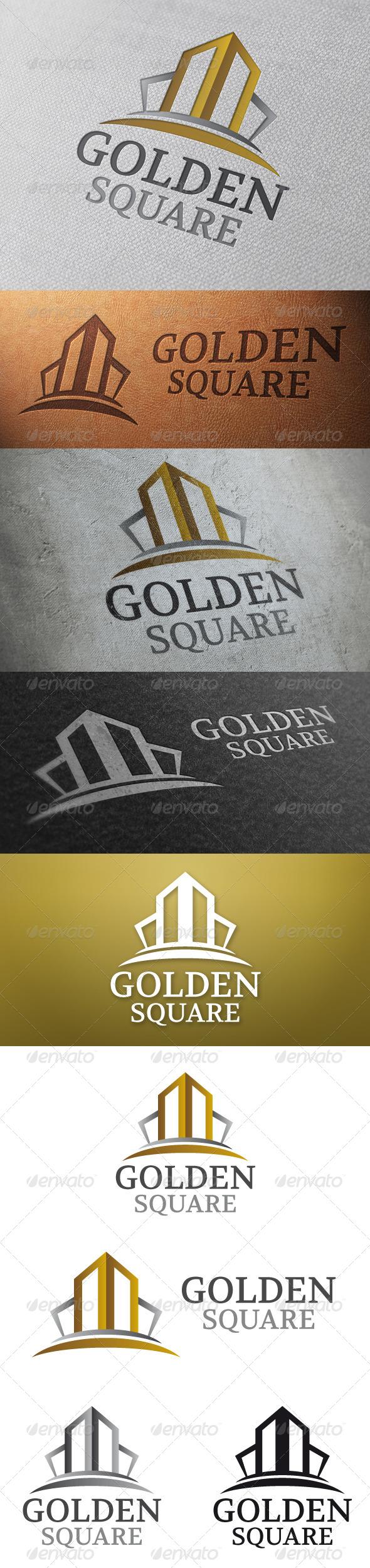 GraphicRiver Golden Square Logo Template 4804419