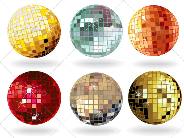 Shiny Disco Balls - Vectors