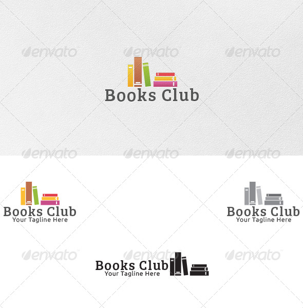 GraphicRiver Books Club Logo Template 4805590