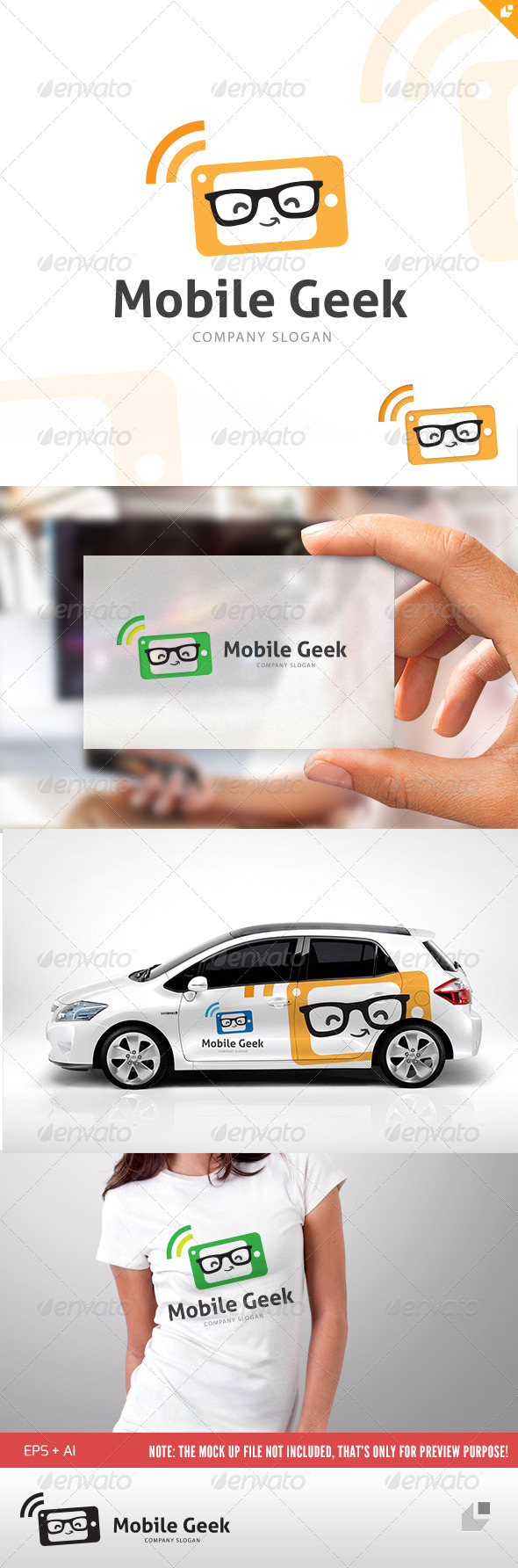 GraphicRiver Mobile Geek Logo 4805639