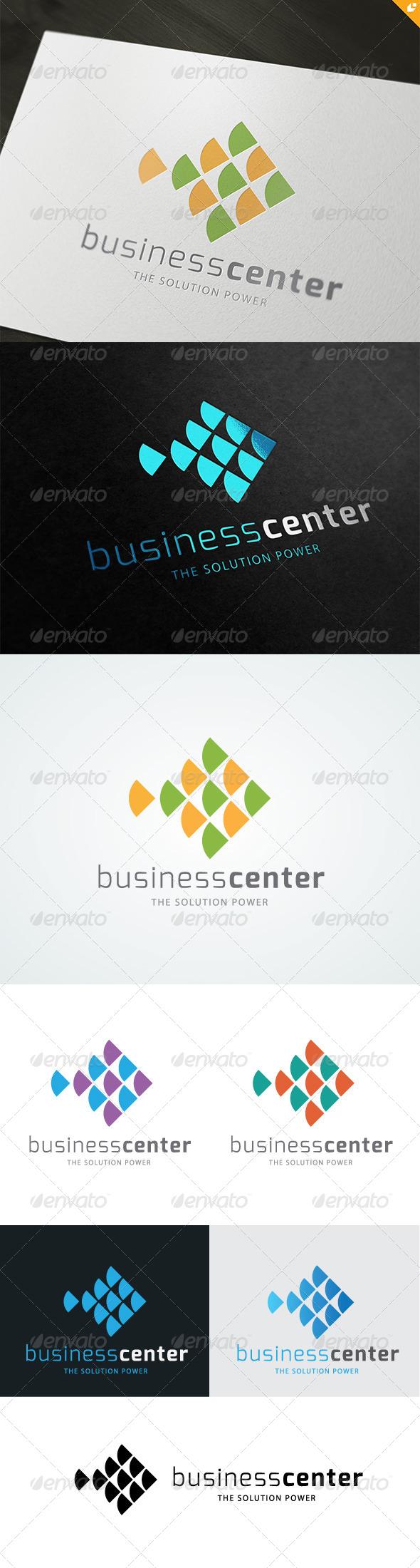 GraphicRiver Fish Business Center Logo 4805764