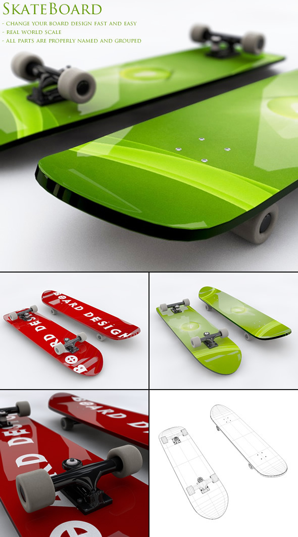 3DOcean Skateboard 4806172