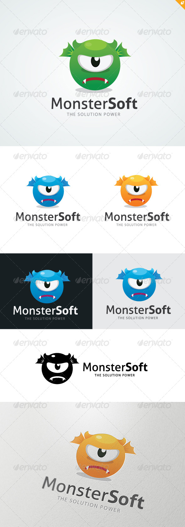 GraphicRiver Monster Soft Logo 4806270