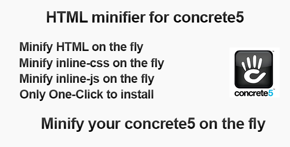 CodeCanyon HTML minifier for concrete5 4806821
