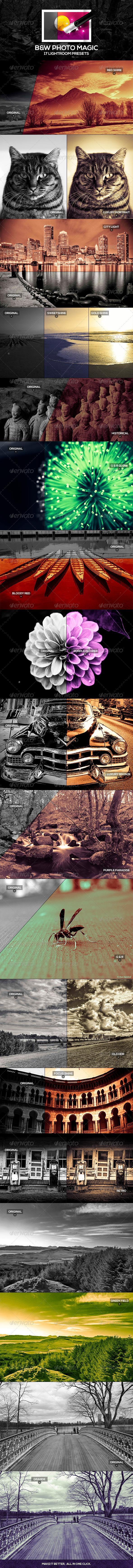 GraphicRiver B&W Photo Magic Lightroom Presets 4806871