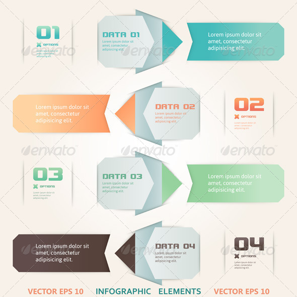 GraphicRiver Modern Origami Style Infographic Illustration 4806921