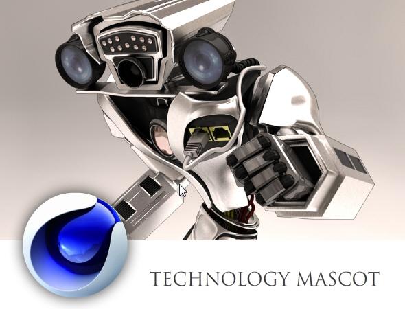 3DOcean Technology Mascot 4807388
