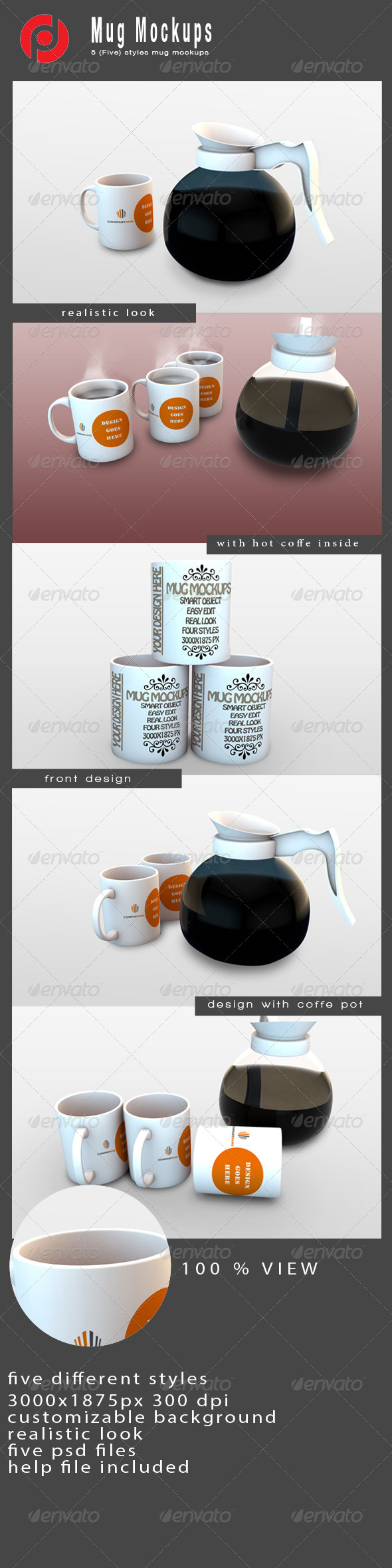 GraphicRiver Mug Mock-Ups 4807555