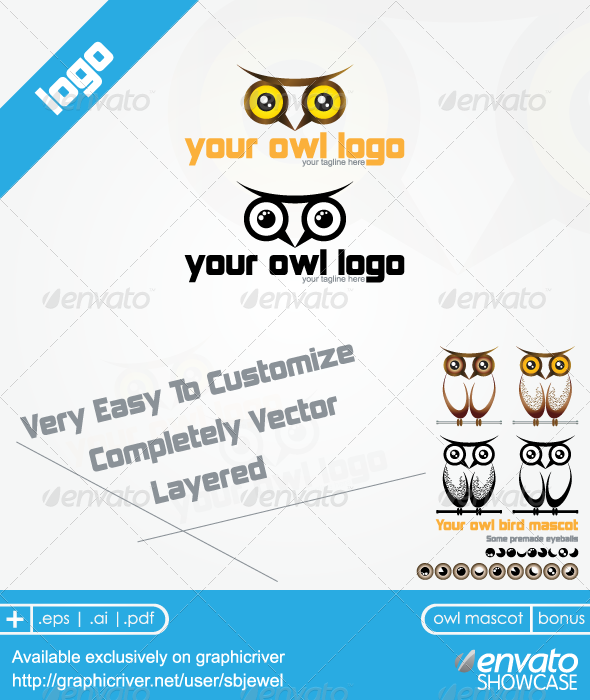 Owl Logo Mascot Templates  - Symbols Logo Templates