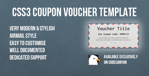 CodeCanyon CSS3 Coupon Voucher Template 4808430