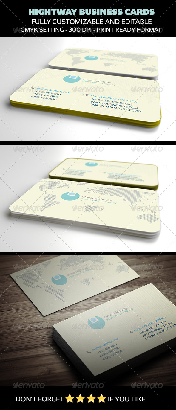 GraphicRiver Hightway Business Cards 4024446