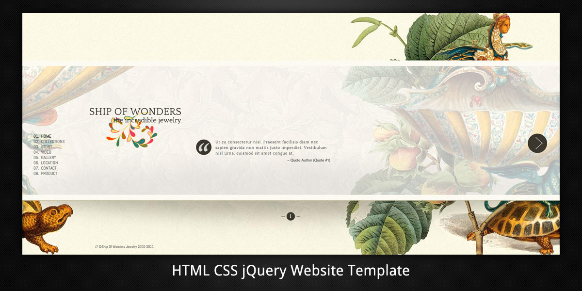 Ship Of Wonders Scrollable HTML5 website template
