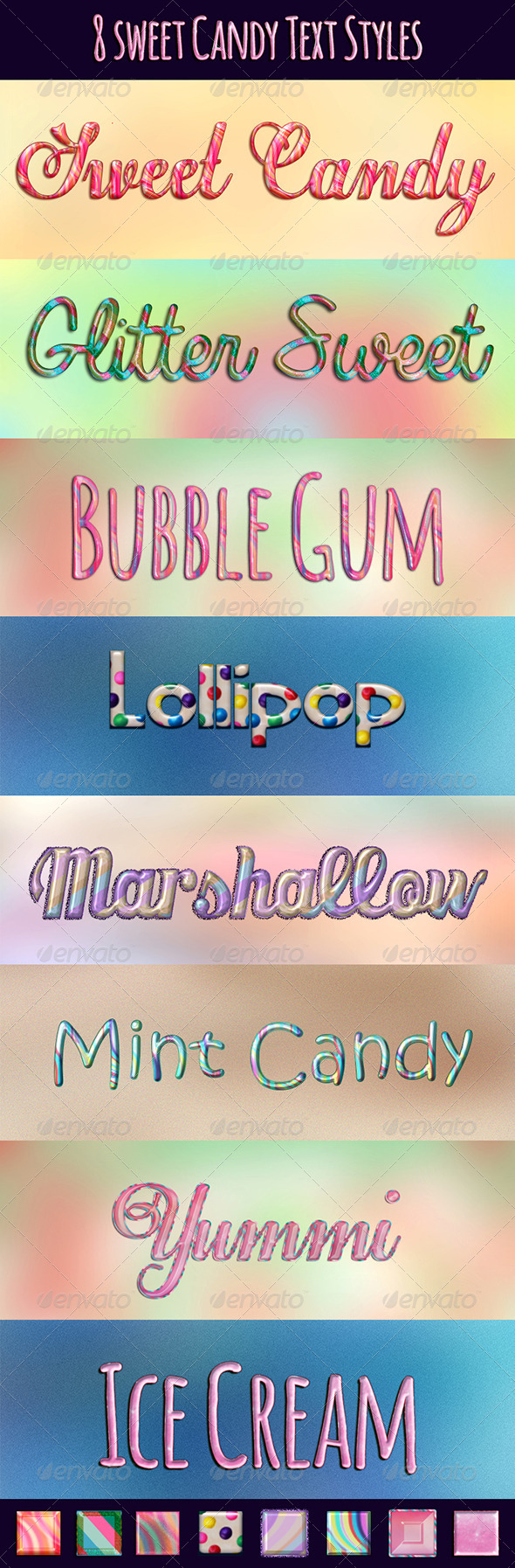GraphicRiver Sweet Candy Layer Styles 4808552