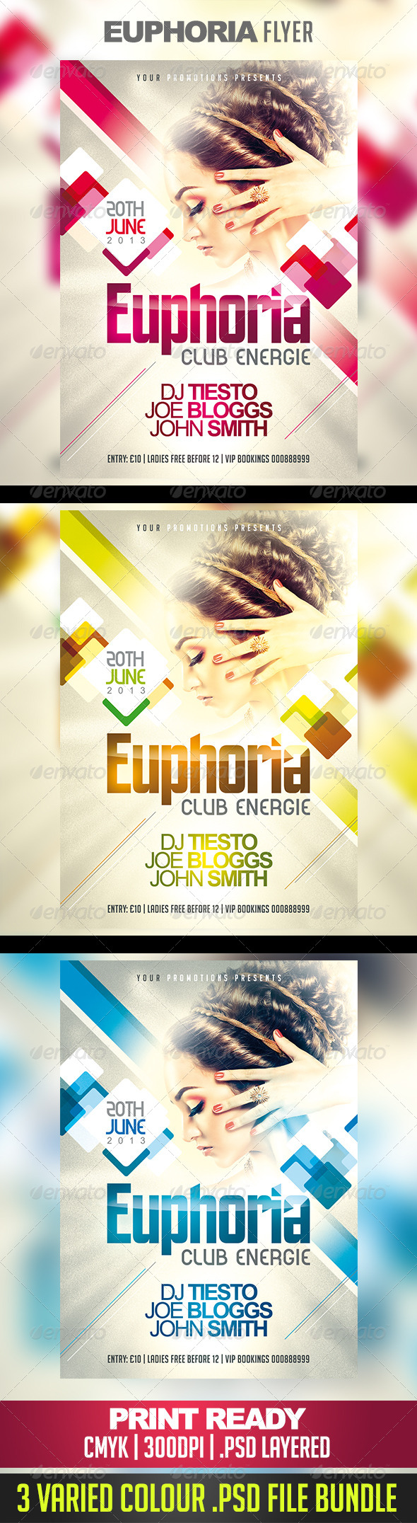 Euphoria Nightclub/Party Flyer - Clubs & Parties Events